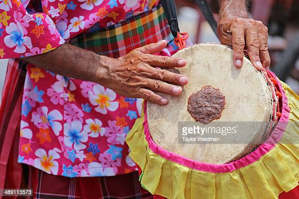 Musicians play the drums during a parade celebrating the Bun bang Fai Rocket festival on May 10 2014 in Yasothon Thailand The Bun Bang Fai Rocket...