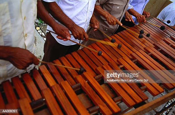musicians playing a xylophone - percussion mallet stock pictures, royalty-free photos & images
