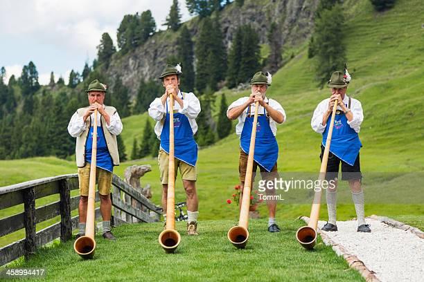 Musicians Playing Alphorn