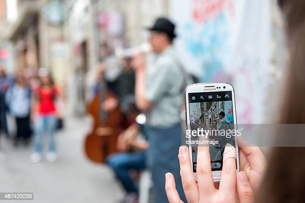 Musicians Playing at istiklal street,istanbul