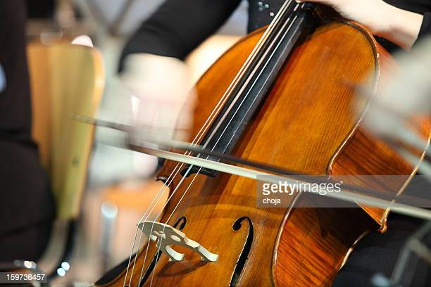 musicians playing in concert....cellist - stringed instrument stock pictures, royalty-free photos & images