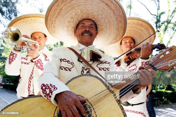 musicians playing in mariachi band, san miguel de allende, guanajuato, mexico - mexican hat stock pictures, royalty-free photos & images