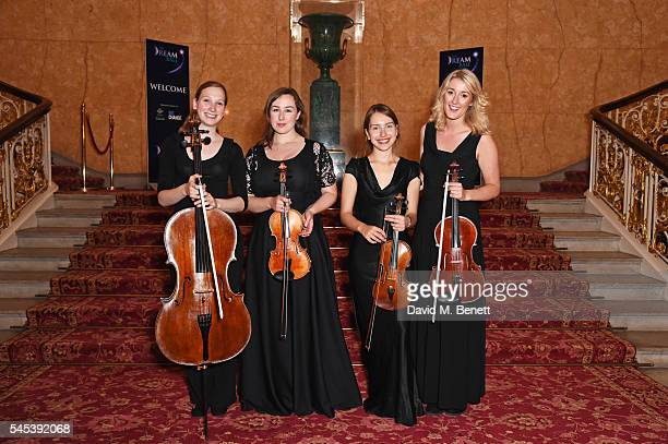 Musicians pose at The Dream Ball in aid of The Prince's Trust and Big Change at Lancaster House on July 7, 2016 in London, United Kingdom.
