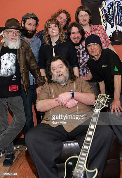 Musicians Powell St John and Roky Erickson of the '13th Floor Elevator' with the 'Black Angels' backstage at the Austin Chronicle Music Awards during...