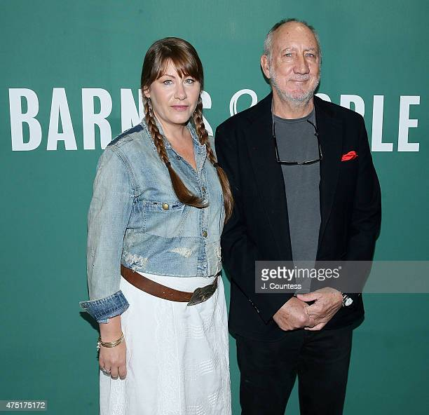 Musicians Rachel Fuller and Pete Townshend attend the CD signing for Classic Quadrophenia at Barnes Noble Union Square on May 29 2015 in New York City