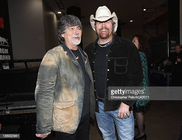 Musicians Randy Owen and Toby Keith attend the American Country Awards 2011 at the MGM Grand Garden Arena on December 5 2011 in Las Vegas Nevada