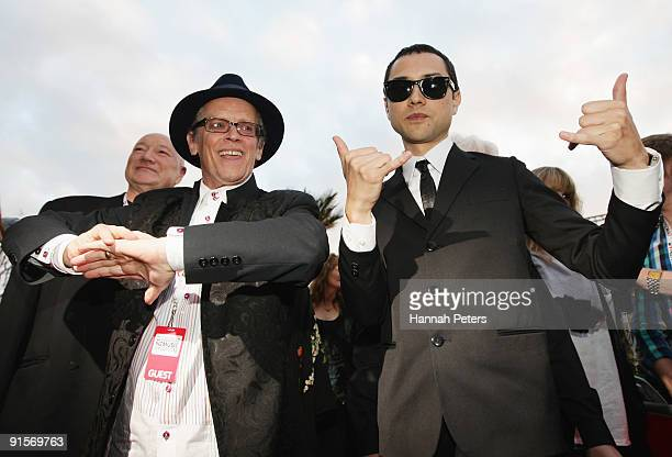 Musicians Ray Columbus and Cody Nielson of The Mint Chicks arrive for the 2009 Vodafone Music Awards at Vector Arena on October 8 2009 in Auckland...