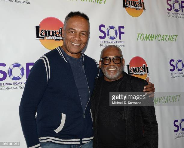Musicians Ray Parker Jr and Jonathan Butler attend the SarcomaOma Foundation Comedy Benefit at The Laugh Factory on June 6 2018 in West Hollywood...