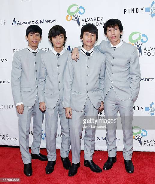 Musicians Reno Otic, Ralph Otic, Raymond Otic and RJ Otic of the REO Brothers Band attend the Pinoy Relief Benefit concert at Madison Square Garden...