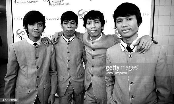 Musicians Reno Otic, Raymart Otic, RJ Otic and Ralph Otic of REO Brothers Band attend the Pinoy Relief Benefit concert at Madison Square Garden on...