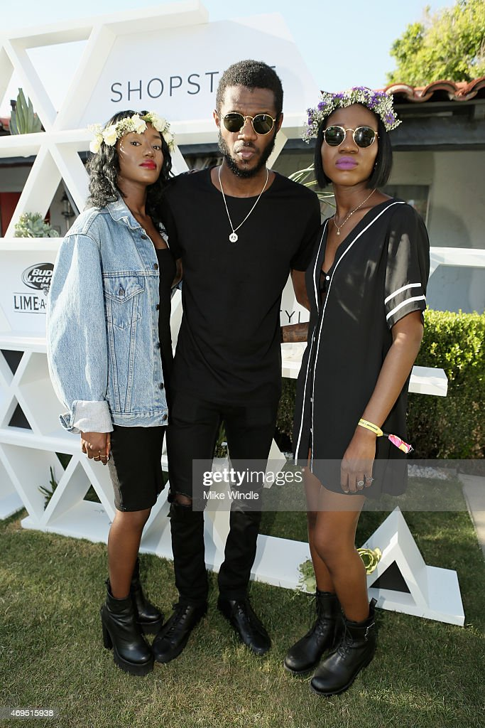 Musicians Rey Reynolds, Auston Reynolds and Jess Reynolds of James Davis attend POPSUGAR + SHOPSTYLE'S Cabana Club Pool Parties - Day 2 at the Avalon Hotel on April 12, 2015 in Palm Springs, California.