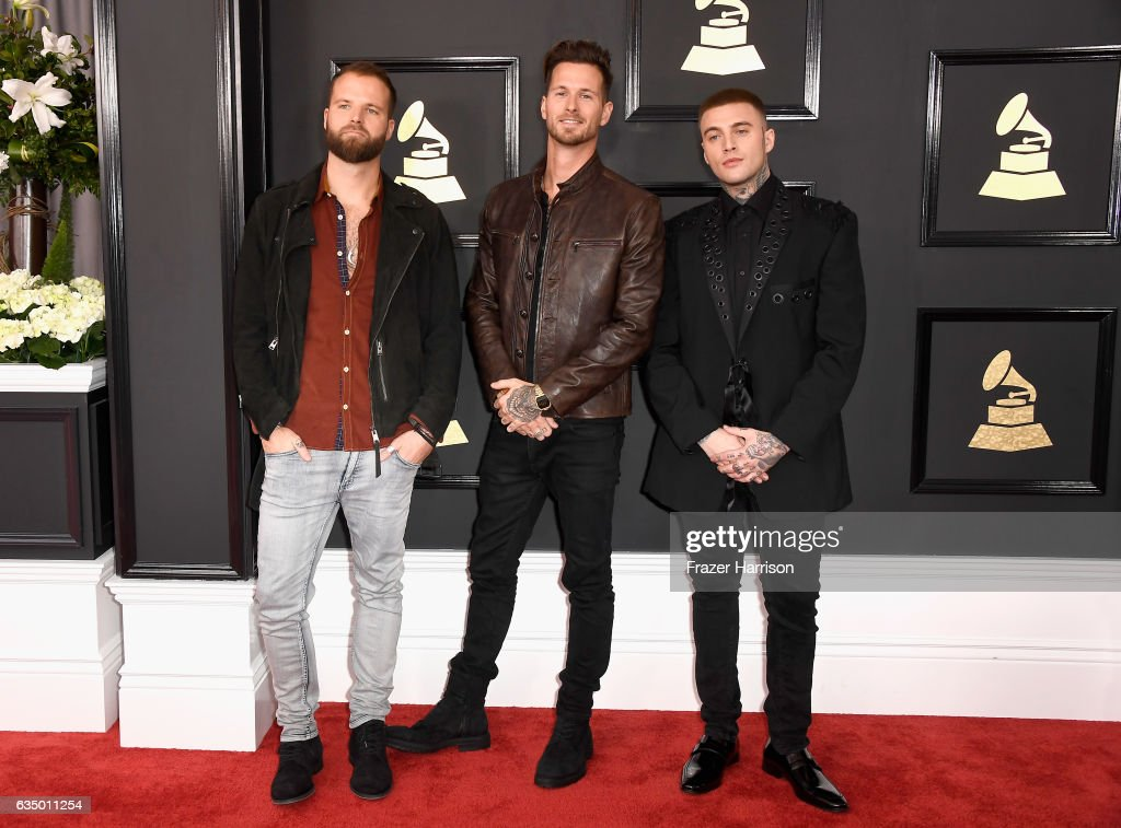 Musicians Rich Meyer, Ryan Meyer and Johnny Stevens of Highly Suspect attend The 59th GRAMMY Awards at STAPLES Center on February 12, 2017 in Los Angeles, California.