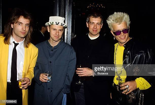 Musicians Richard Marx Chris Lowe Neil Tennant and Billy Idol pose in New York City circa 1990