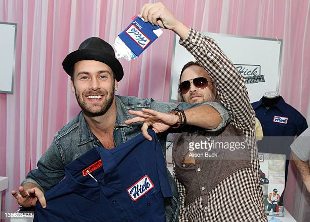 Musicians Rickard Goransson and Chad Wolf of Carolina Liar attend GRAMMY Gift Lounge during The 54th Annual GRAMMY Awards at Staples Center on...