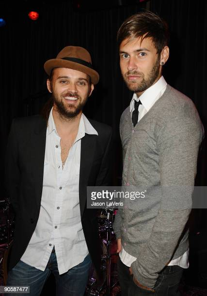 Musicians Rickard Goransson and Chad Wolf of Carolina Liar attend Labels For Education at The Grammy Museum on September 10 2009 in Los Angeles...