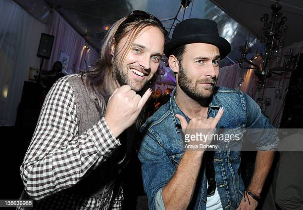 Musicians Rickard Goransson and Chad Wolf of Carolina Liar attends GRAMMY Gift Lounge during The 54th Annual GRAMMY Awards at Staples Center on...