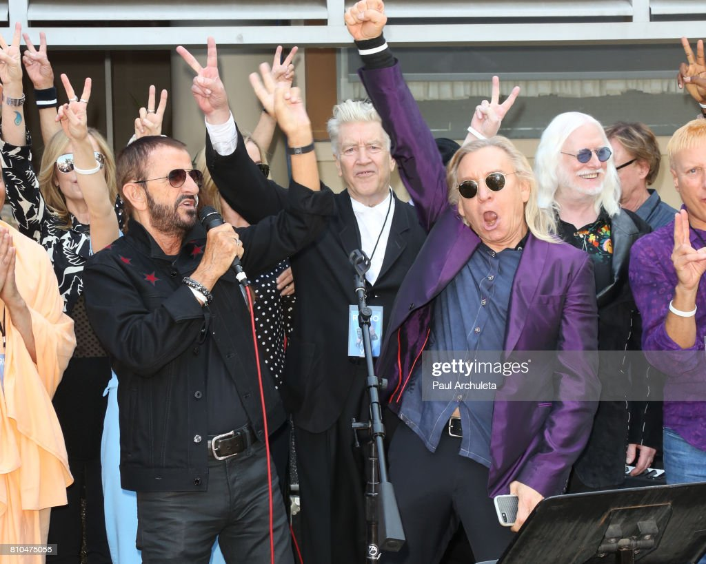 Musicians Ringo Starr L And Joe Walsh R Attend The
