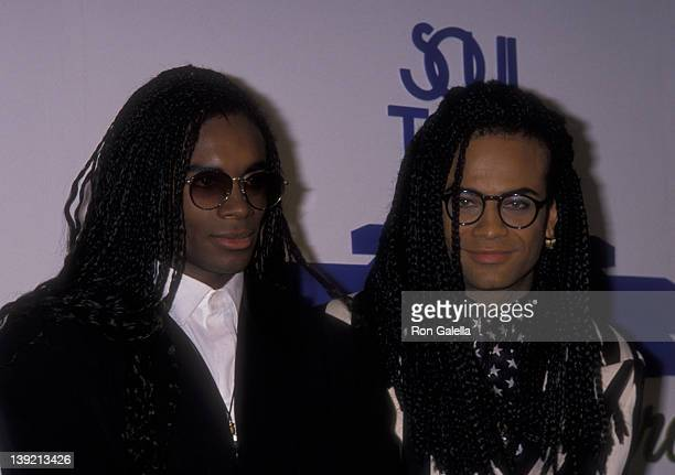 Musicians Rob Pilatus and Fab Morvan of Milli Vanilli attend Fourth Annual Soul Train Music Awards on March 14 1990 at the Shrine Auditorium in Los...
