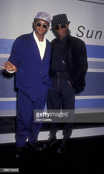 Musicians Rob Pilatus and Fab Morvan of Milli Vanilli sighted on February 12 1991 at Bar One Club in Hollywood California