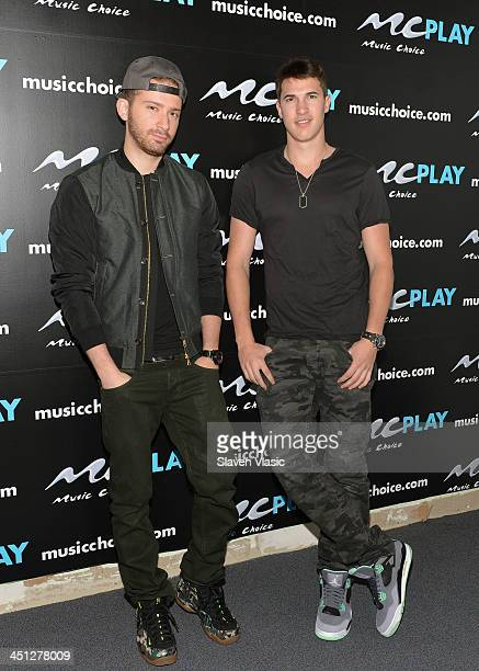 Musicians Rob Resnick and Cal Shapiro of Timeflies visit You A Music Choice on November 21 2013 in New York City