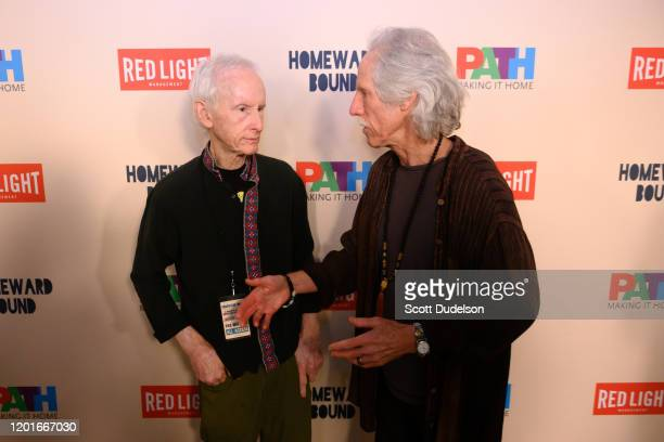 Musicians Robby Krieger and John Densmore founding members of The Doors attends the Homeward Bound A Benefit for the Homeless Community and PATH at...