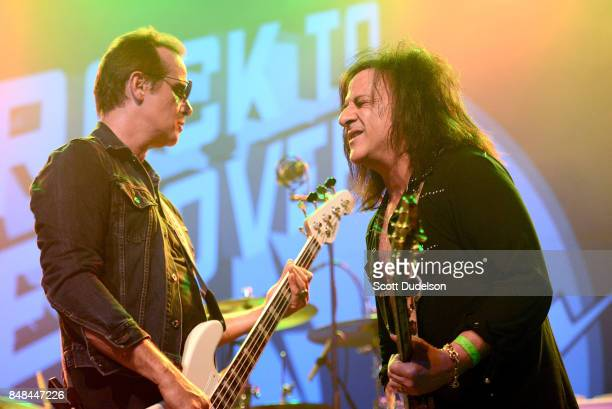 Musicians Robert DeLeo of Stone Temple Pilots and Steve Stevens of the Billy Idol band performs onstage during the second annual Rock for Recovery...