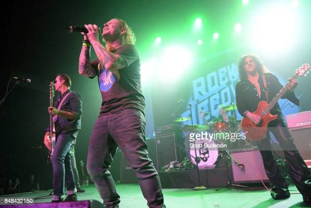 Musicians Robert DeLeo of Stone Temple Pilots Corey Taylor of Stone Sour and Slipknot Matt Sorum of Kings of Chaos and Guns n' Roses and Steve...