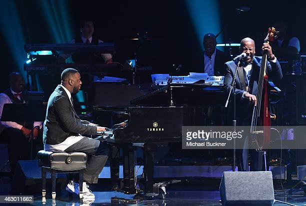 Musicians Robert Glasper Ray Chew and Nathan East perform onstage at the Premiere Ceremony during The 57th Annual GRAMMY Awards at the Nokia Theatre...