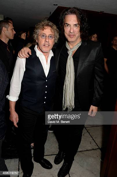 Musicians Roger Daltrey and Paul Stanley attend the Teen Cancer America Fundraiser hosted by Darren Strowger Roger Daltrey and Rebecca Rothstein on...