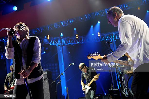 Musicians Roger Daltrey and Pete Townshend of The Who perform onstage at the 2008 VH1 Rock Honors honoring The Who at UCLA's Pauley Pavilion on July...