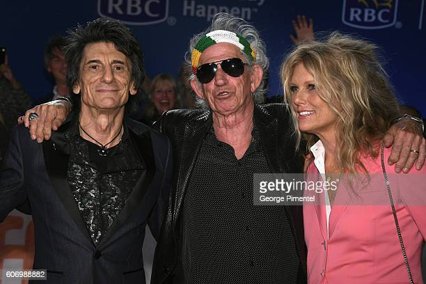 Musicians Ronnie Wood Keith Richards and wife Patti Richards attend 'The Roling Stones Ole Ole Ole A Trip Across Latin America' Premiere during the...