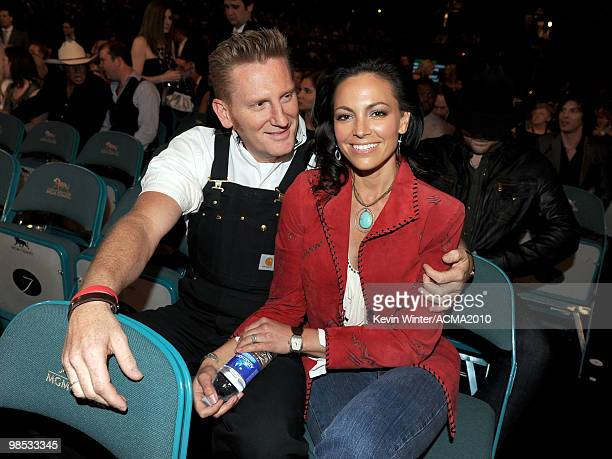 Musicians Rory Feek and Joey Martin of the band Joey + Rory during the 45th Annual Academy of Country Music Awards at the MGM Grand Garden Arena on...