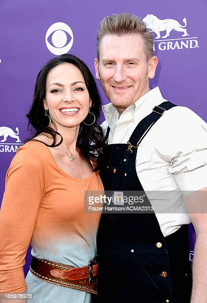 Musicians Rory Lee Feek and Joey Martin Feek arrive at the 48th Annual Academy of Country Music Awards at the MGM Grand Garden Arena on April 7 2013...