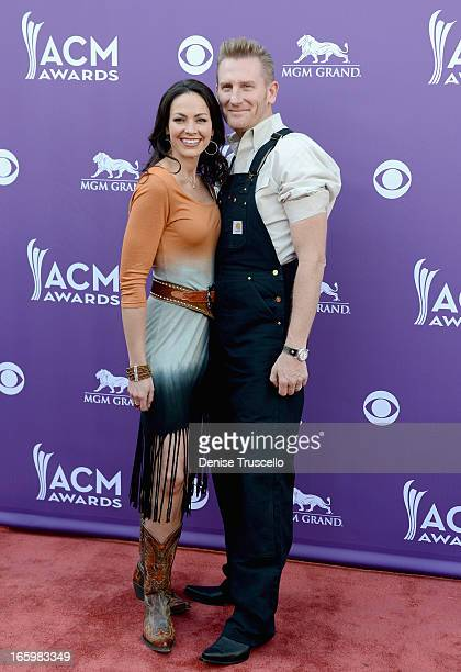 Musicians Rory Lee Feek and Joey Martin Feek of Joey & Rory arrive at the 48th Annual Academy of Country Music Awards at the MGM Grand Garden Arena...