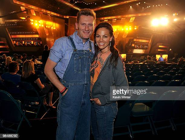Musicians Rory Lee Feek and Joey Martin Feek perform onstage during the 45th annual Academy of Country Music Awards rehearsals held at the MGM Grand...