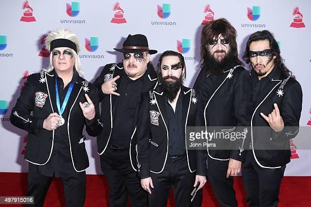 Musicians Roy Ochoa Mick Marcy Brian Amadeus Moderatto Xavi Moderatto and Elohim Corona of Moderatto attend the 16th Latin GRAMMY Awards at the MGM...