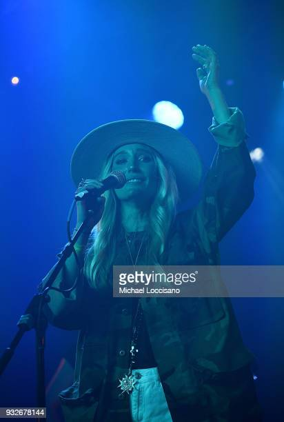 Musicians Ruby Stewart performs for the Budweiser Barn during the 2018 SXSW Conference and Festivals at Fair Market on March 15 2018 in Austin Texas