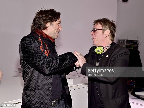 Musicians Rufus Wainwright and Andy Rourke attend LilySarahGrace Presents Color Outside The Lines on October 25 2014 in New York City