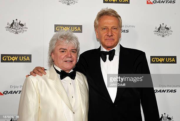 Musicians Russell Hitchcock and Graham Russell of music group Air Supply arrive at the 9th Annual G'Day USA Los Angeles Black Tie Gala at the...