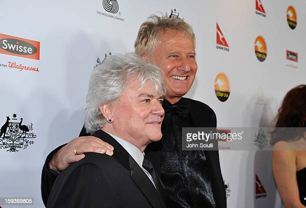 Musicians Russell Hitchcock and Graham Russell of the band Air Supply arrive at the 2013 G'Day USA Los Angeles Black Tie Gala at JW Marriott Los...
