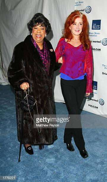 Musicians Ruth Brown and Bonnie Raitt attend the Salute to the Blues Concert at Radio City Music Hall February 7 2003 in New York City New York