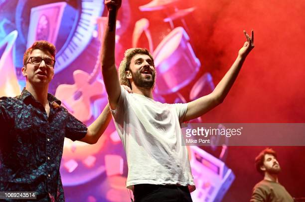 Musicians Ryan Met and Jack Met of AJR perform onstage at Not So Silent Night presented by Radiocom at Barclays Center on December 6 2018 in New York...