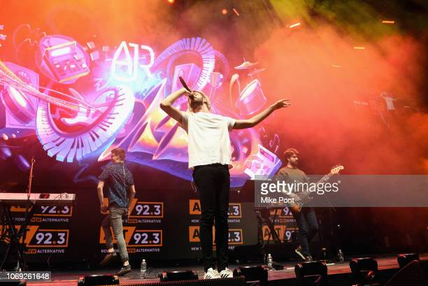 Musicians Ryan Met Jack Met and Adam Met of AJR perform onstage at Not So Silent Night presented by Radiocom at Barclays Center on December 6 2018 in...