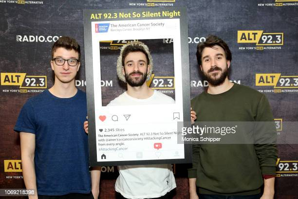 Musicians Ryan Met Jack Met and Adam Met of AJR support the American Cancer Society's #AttackCancer social media campaign at Not So Silent Night...