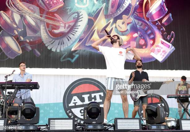 Musicians Ryan Met Jack Met and Adam Met of the band AJR performs onstage the ALT 987 Summer Camp Concert at Queen Mary Events Park on August 12 2018...