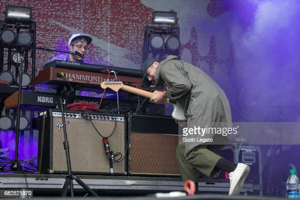 Musicians Ryan Neighbors and John Baldwin Gourley of Portugal The Man perform during day 1 of Shaky Knees Festival at Centennial Olympic Park on May...