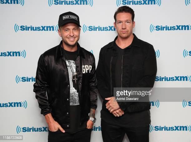 Musicians Ryan Tedder and Zach Filkins of OneRepublic visit the SiriusXM Studios on June 13 2019 in New York City