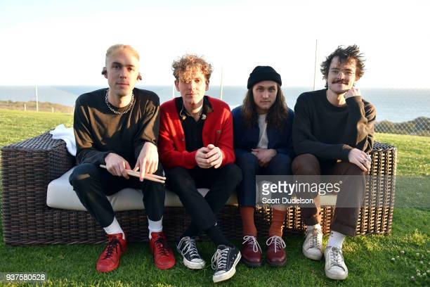 Musicians Ryan Winnen, Chase Lawrence, Joe Memmel and Zachary Dyke of the band COIN attend The Pacific Sounds Music Festival at Pepperdine University...