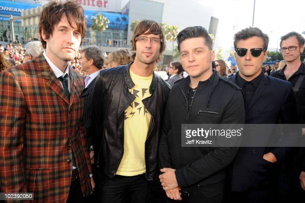 Musicians Sam Endicott John Conway Anthony Burulcich and Mike Hindert from the band The Bravery arrive at the premiere of Summit Entertainment's The...