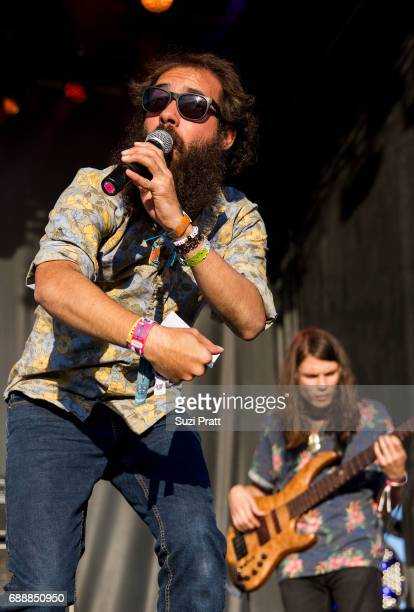 Musicians Sam Melo and Charlie Holt of Rainbow Kitten Surprise perform at the Sasquatch Music Festival at Gorge Amphitheatre on May 26 2017 in George...